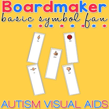 Basic Symbol Fan - Boardmaker Visual Aids for Autism SPED