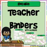 Editable Teacher Planner and Binders