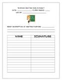 Basic Teacher Sign-in Sheet