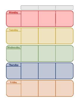 Basic Teacher/Student Planner