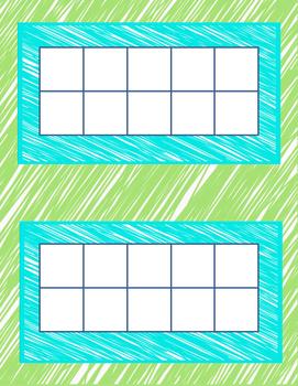 Basic Tens Frame with border