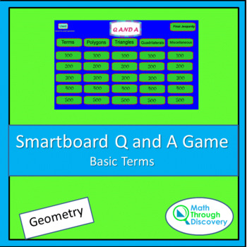 Geometry Smartboard Q and A Game - Basic Terms