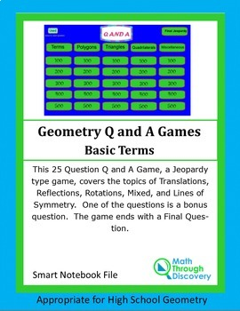 geometry smartboard q and a game basic terms