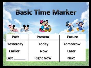 Basic Time Markers Anchor Chart