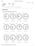 Basic Time Telling Worksheet