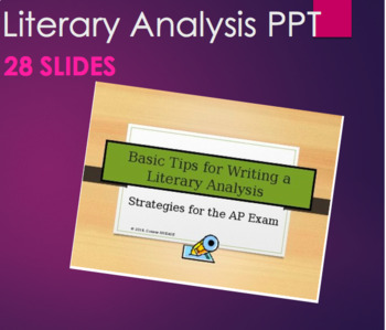 how to write a literary essay step by step ppt