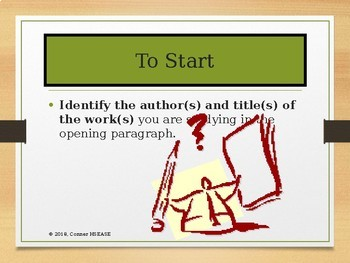 Basic Tips for Writing a Literary Analysis -AP Exam or General Essay PPT