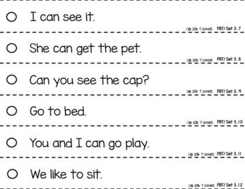 Basic Training Reading Fluency Strips