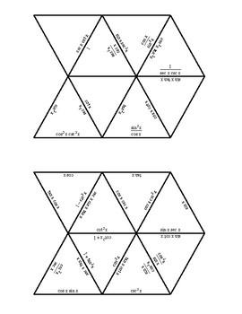 Basic Trig Identity Triangle Puzzle