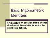 Basic Trigonometric Identities