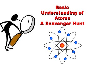 Basic Understanding of Atoms - A Scavenger Hunt