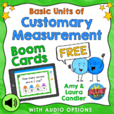 Free Basic Units of Customary Measurement Boom Cards (With Audio)