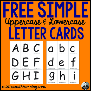 Basic Upper and Lowercase Letter Cards