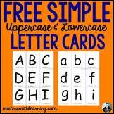 Free Simple Upper and Lowercase Letter Cards