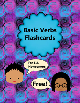 Basic Verbs Flashcards - ELL Newcomers