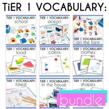 Basic Vocabulary Activities Growing Bundle