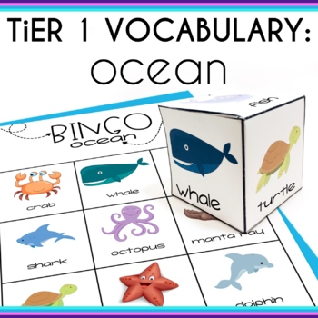 Basic Vocabulary Activities Ocean for Speech Therapy