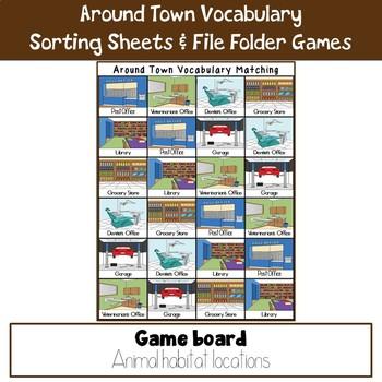 Around Town Vocabulary Practice