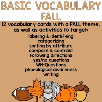 Basic Vocabulary: Fall
