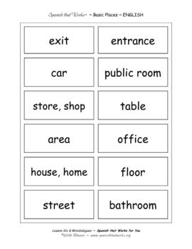 Basic Vocabulary Flashcards ~ Spanish that Works for You