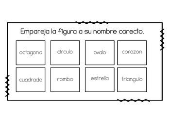 Basic Vocabulary Matching in English & Spanish