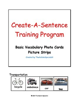 Basic Vocabulary Real Photo Card Picture Strips