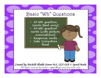 Basic WH question Task Cards {FREEBIE}