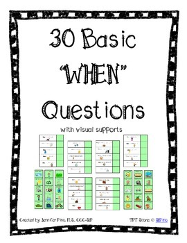 Basic WHEN Questions Packet