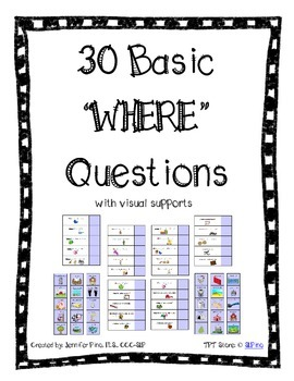 Basic WHERE Questions Packet