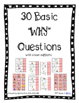Basic WHY Questions Packet