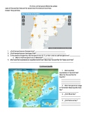 Basic Weather Interpretive Authentic Reading Activity Spanish 1