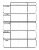 Basic Weekday Planner