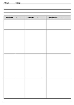 Basic Weekly Planner - any year, ready to print