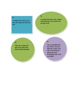 Basic Word Problems (Common Core) 5 days worth