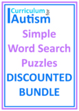 Basic Word Search Puzzles Large Print Autism Reading Literacy ESL Bundle