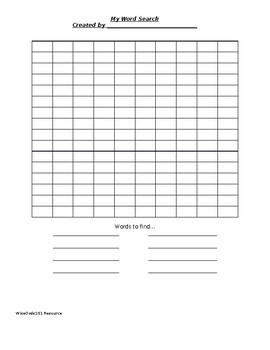 Basic Word Search Template