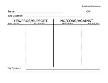 Basic Worksheet: Forming Opinions on Issues