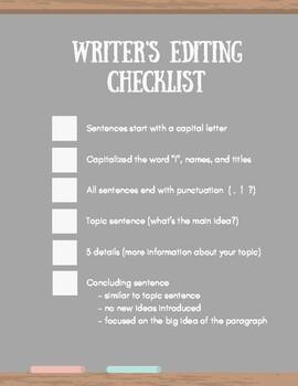 Basic Writer's Editing Checklist