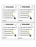 Basic Writing Checklist for First Grade