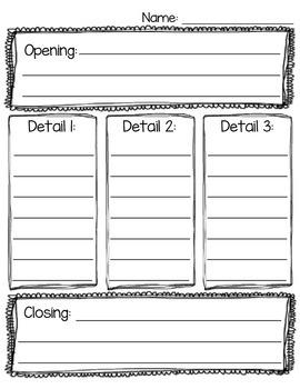 Basic Writing Graphic Organizer