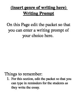 Basic Writing Packet for Essays