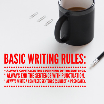 Basic Writing Rules Poster