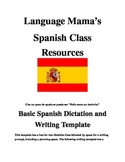 Basic Writing and Dictation Template Spanish
