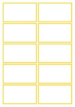Basic Yellow Flashcard Template