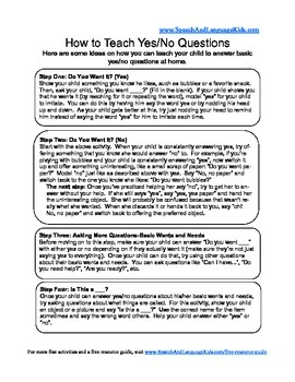 Basic Yes/No Questions Handout