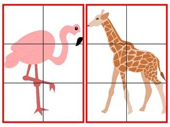 Basic Zoo Animal Puzzles