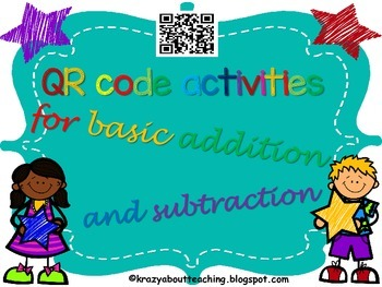 Basic addition and subtraction QR code task card activities