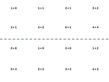 Basic addition facts to 10 Bingo Game