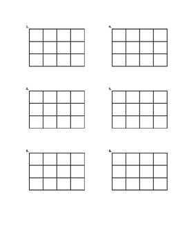 Basic addition or subtraction problem grids for up to 4 digit