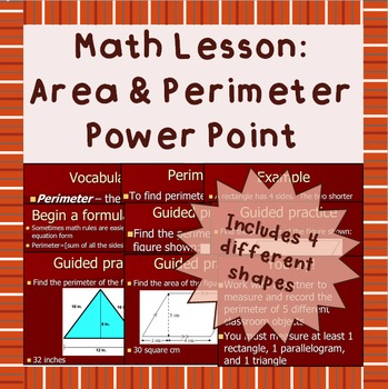 Basic area and perimeter power point